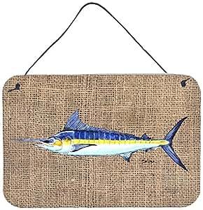 Caroline's Treasures Fish-Marlin Indoor Aluminum Metal Wall or Door Hanging Prints, 8 x 12, Multicolor
