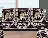 #7: Amazon Great Indian Festival Sale Presents FAB NATION 10 Sofa Panels for a 5 seater sofa - FURNITURE BROWN sofa cover - TRADITIONAL MEWAT ELEPHANT EXCLUSIVE DESIGN