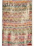 benuta Teppich Liguria Multicolor 120x180 cm | Moderner Teppich für Wohn- und Schlafzimmer