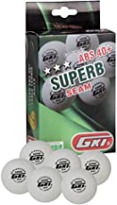 GKI Superb 3 Star ABS Plastic 40+ Table Tennis Ball (6 pc)