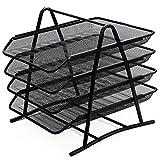 Zuvo Mesh-Ablagefächer für den Schreibtisch, Organizer, 4Ablagen schwarz