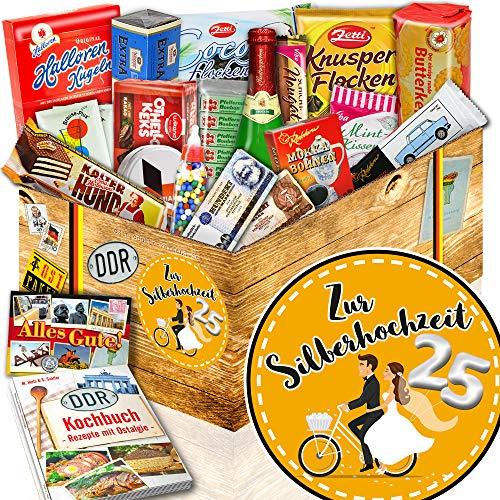 Zur Silberhochzeit + Süße DDR Waren + Geschenk für 25 jährigen Hochzeitstag