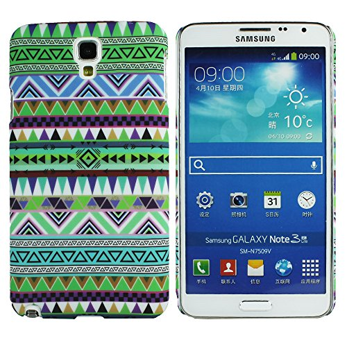 Heartly Aztec Tribal Art Printed Design Retro Color Armor Hard Bumper Back Case Cover For Samsung Galaxy Note 3 Neo N7500 N7505 - Nature Green  available at amazon for Rs.149