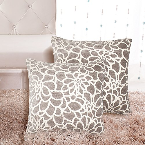 Home Dekorative Kissenbezug 18 x 18 Baumwolle Velet Überwurf Kissen Fall mit inviseible Zipper 2er Set für Couch, Sofa, Bett, Couch Möbel (Set Mit 3 Accent Stühle)