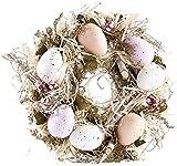 Britesta Ostern-Tischdekos: Osterkranz mit pastellfarbenen Ostereiern, Ø 23 cm (Osterschmuck)