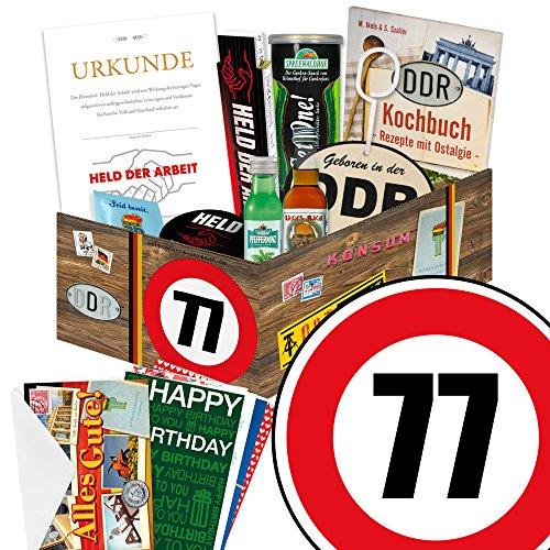 77 Geburtstag mit Geschenkverpackung