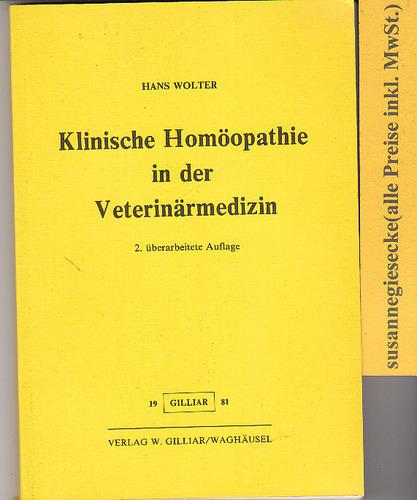 Klinische Homöopathie in der Veterinärmedizin