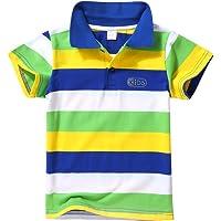 BOBORA Polo T-Shirt Bébé Garçon, Garçons Enfants Chemise Été en Coton Polo 1-7 Ans
