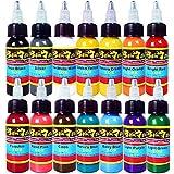 Solong Tattoo® 14 básico colores Tinta de tatuaje Serie Pigmento 1oz (30ml) Kit TI301-30-14