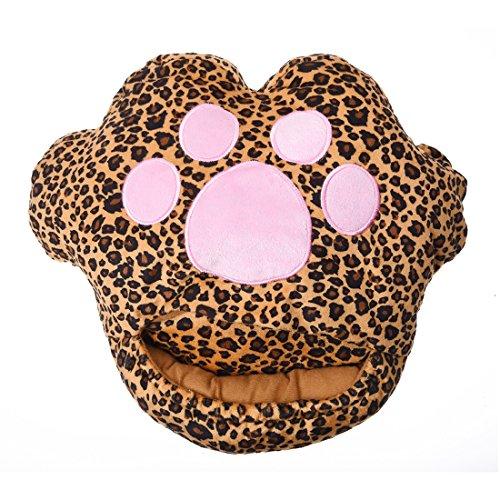 Preisvergleich Produktbild TOOGOO(R) 1 x Leopard Katze Auflage USB beheizte Gleitbacke Fusswaermer Laptop --- Zufaellige Farbe
