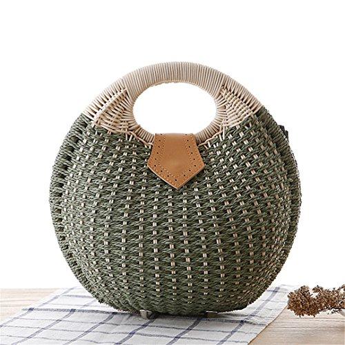 Stil Shell Stroh Handtasche Personalisierte Schöne Rattan Weben Tasche Woven Frauen natürliche Korb Totes Casual Bag (Weben Rattan Körbe)