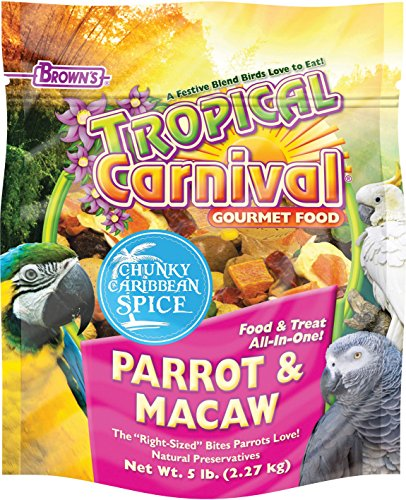 F.M. BROWNS - PET 118601 Tropical Carnival Chunky Carribean Spice Parrot , 5 lb, 1Piece by F.M. BROWNS - PET -