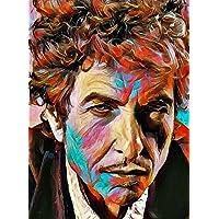 """Aluminium metal wall art """"Bob Dylan"""""""
