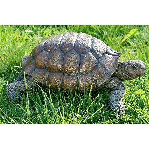 (Schildkrötenfigur, Deko-Figur Schildkröte aus Kunstharz, ca. 34 cm x 25 cm x 14 cm)