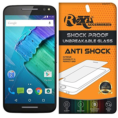 Moto X Style Roxel® {Buy 1 GET 1 Free} Unbreakable Anti Shock Series Tempered Glass Screen Protector for Moto X Style