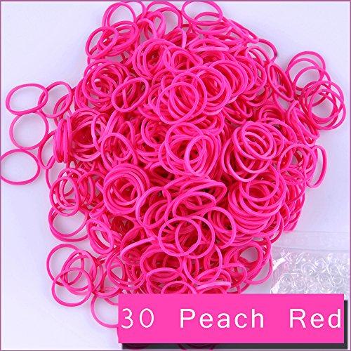 Loom Bands 6000 Stück 240 Clips Nachfüllklammern für Regenbogen DIY Armband Kleid Herstellung 30 Peach Red (Bands Loom 6000)