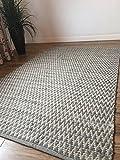 Second Nature Gorgeous Natur grau Zig Zag Design Weiche indischen Teppich 90cm x 150cm