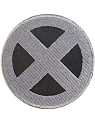 X-Men Logo Gray Wolverine XMen Cosplay Costume Embroidered Sew Iron on Patch