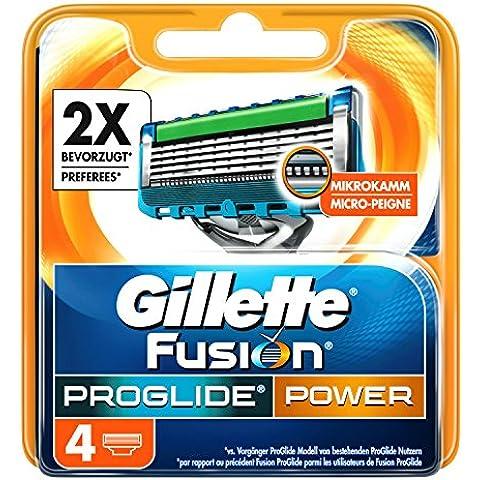 Gillette Fusion ProGlide Power Rasierklingen für Männer, 4Stück
