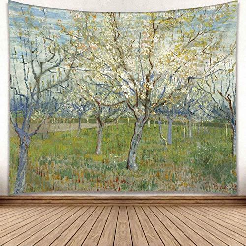 jtxqe Europäischen und Amerikanischen Wind New Moon Moonlight wandbehang malerei Serie Wohnzimmer Dekoration hängen Tapisserie GP15002 150 * 130