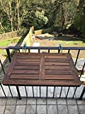 Click-Deck table de balcon en bois dur, table pliante à suspendre, garde-corps, table à manger pour jardin, barbecue, table d'appoint