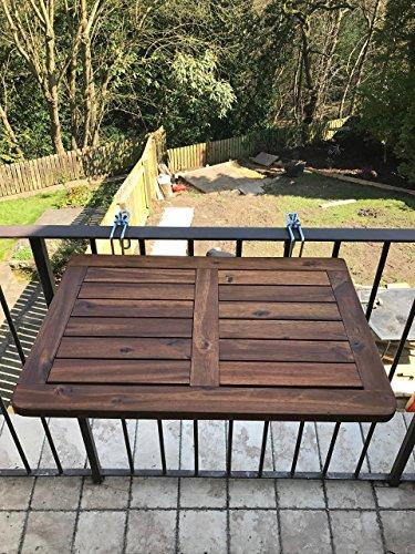 Tavoli Pieghevoli Per Balconi.Click Deck Tavolo Pieghevole Da Balcone In Legno Massiccio Tavolo