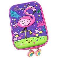 VIHAAN™ Unicorn Pencil Pouch Unicorn/Stationary Pouch Unicorn/Pencil Pouch/EVA/Embossed Pencil case (Flamingo)
