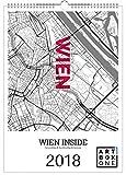 artboxONE Kalender 2018 Wien Inside Wandkalender A3 Städte, Städte / Wien, Kartografie