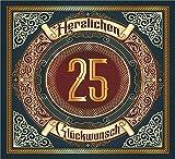 3 St. Aufkleber Original RAHMENLOS® Design: Selbstklebendes Flaschen-Etikett zum 25.Jahrestag Geburtstag oder Jubiläum