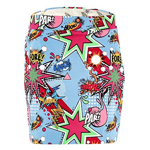 Loudmouth Golf Shorts (Royal & Awesome Damen Golf Rock - Partoon)