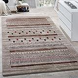 Paco Home Designer Teppich Modern Loribaft Klassisch Nomaden Teppich Kurzflor Beige Creme, Grösse:120x170 cm