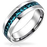 Channel Set Crystal Eternity Band Ring per Donna Uomo Teen Argento Tonico Acciaio Inossidabile Nascita Mese Colori 6MM Taglia