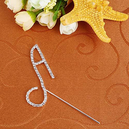 Fenghong Hochzeitstorte Topper, Crystal gestaltete Brief eine Art Cake Topper Hochzeit Jubiläum Dekor Lieferungen Dekorationen Hochzeit (Brief E-hochzeitstorte Topper)