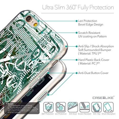 CASEiLIKE Wandschmierereien 2703 Ultra Slim Back Hart Plastik Stoßstange Hülle Cover for Apple iPhone 6 / 6S (4.7 inch) +Folie Displayschutzfolie +Eingabestift Touchstift (Zufällige Farbe) 2728