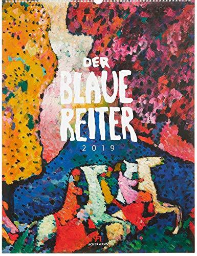 Der Blaue Reiter 2019, Wandkalender im Hochformat (50x66 cm) - Kunstkalender (Expressionismus) mit Monatskalendarium