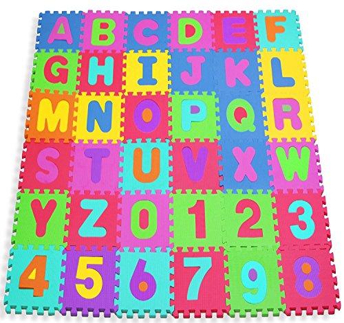 W-top Puzzlematte ABC bunt -10 Matten - Zahlen und Buchstaben