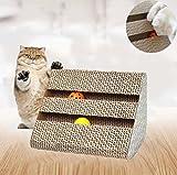Kratzbrett,Kratzbett,Kratzmatte,Kratzbrett für Katzen mit Katzenminze,Kratzmöbel ,Dreieck Kratzbrett Haustier Spielzeug von Ayuboom