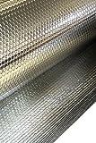 Solar Bay 10 X 1M Mp 2:2 Lámina Aislante Aluminio Doble Burbuja Doble 6mm Grueso 1Rollo