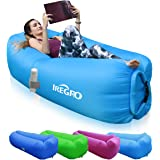 IREGRO Inflatable lounger Waterproof inflatable Sofa with Storage Bag Air Sofa lounger Hammock with Headrest Inflatable…
