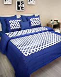 Bless International Pure Cotton Wrinkle/Fade And Stain Resistant With Hypoallergenic Luxury Mandala Bed Sheet Set with 2 Pillow Cases, (King, Blue White Color)