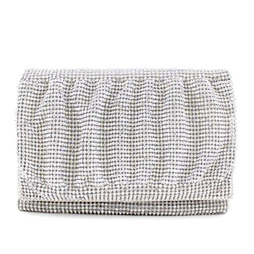 Damen Abendtasche Diamantrhinestone-Diamant-Armband-Armband Silver