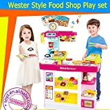 ICW Supermarket Shopping Game Western Style RC Food Shop Play Set (51 Accessories) Large