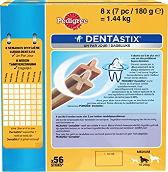 Pedigree Dentastix - Friandises pour moyen chien - 56 sticks hygiène bucco-dentaire