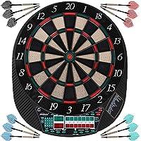 Physionics - Diana electrónica (28 opciones de juego para max.16 jugadores) - Pantalla de LED para leer resultados y elegir un juego