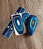bleu métallisé FORD Clé AUTOCOLLANT Housse superposé FOCUS ST RS MONDEO S-MAX KUGA FIESTA C-MAX TITANE Galaxy
