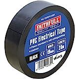 Faithfull 19 mm brede PVC-elektroband, zwart, 20 m - FAITAPEPVCBK
