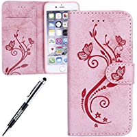 Custodia in pelle per iPhone 6S Plus Butterfly cellulare, iPhone