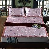 LLZBSX Eisdraht Sitze/Kühler Matratze/Waschbarer/Eisseide Sitz/Drei Stück ...- Anzug(+2 Kissenpolster. 1)/Verdickungs-/Mat/Falt-/Mat/M/2.2/Bed Doppel/1.5M/1.8/2/Xia,