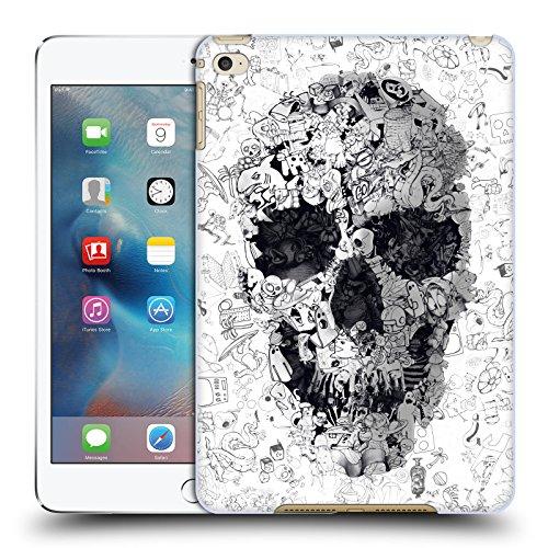 Ufficiale Ali Gulec Doodle Teschio Il Messaggio Cover Retro Rigida per Apple iPad mini 4 - Doodle Ali