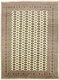 CarpetFine: Pakistan Buchara 2ply Teppich 277x367 Beige,Braun - Handgeknüpft - Geometrisch